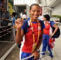 图文-古巴奥运代表团包机抵京 北京欢迎你的到来