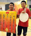 图文-国家乒乓球队赴香港访问表演 他俩真幸运