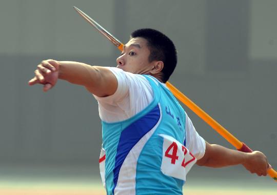 图文-全国锦标赛男子标枪决赛赛况秦强扔出冠军