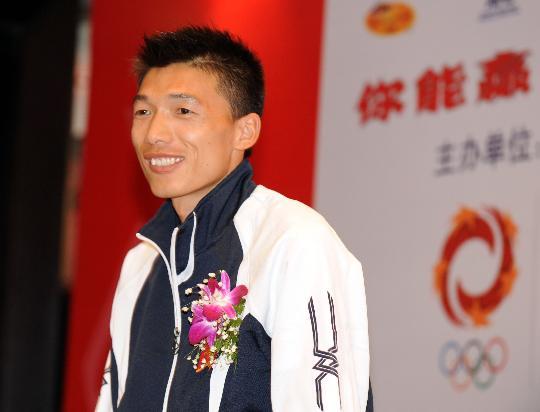 图文-北京国际马拉松赛运动员见面会中国希望韩刚