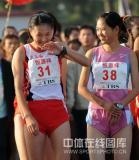 图文-08年北京国际马拉松赛赛况孙英杰心情不错