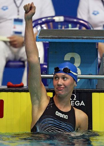 图文-短池游泳世界杯莫斯科站出水芙蓉祖耶娃