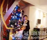 图文-潘晓婷圣诞树下倩影九球天后装扮的圣诞树
