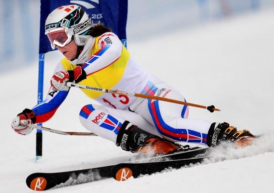图文-大冬会女子大回转法国选手获银疾驰而下