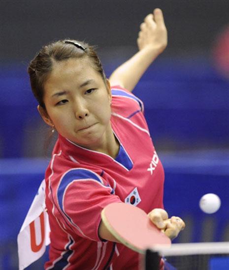 图文-世乒赛男女单正赛揭幕韩国选手朴美英晋级