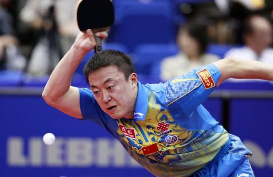 图文-世乒赛马琳晋级男单十六强眼疾手难快