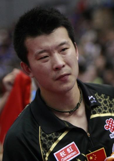 图文-世乒赛男单张超出局痛苦郁闷尽写脸上