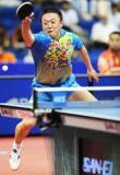 图文-世乒赛男单1/8决赛马琳脸色很是难看