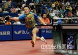 图文-世乒赛男单马琳4-3松平健太马琳满场飞奔救球