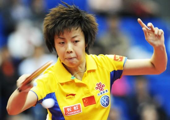 图文-世乒赛女单决赛张怡宁4-2郭跃永远瞄准第一