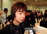 图文-中国乒乓球队从世乒赛凯旋张怡宁接受采访