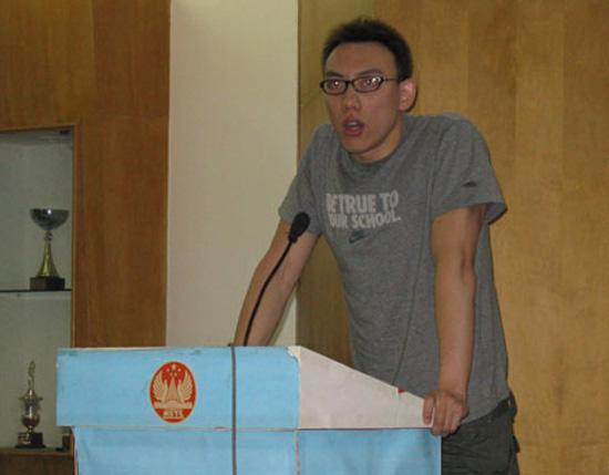 图文-中国游泳队举行演讲比赛陈祚期待世锦赛佳绩