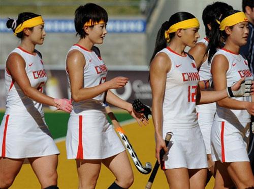 图文-女曲冠军杯中国7-0胜英格兰女曲平静面对大胜