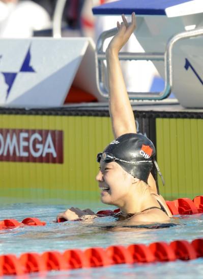 图文-世锦赛女子50米蝶泳决赛周雅菲意外的银牌