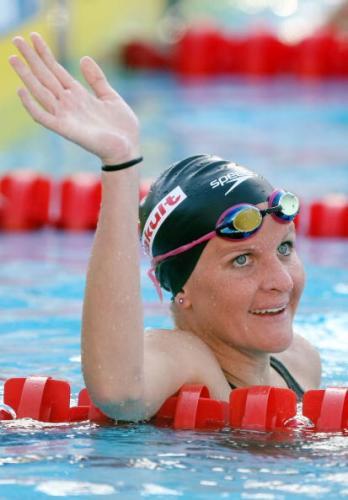 图文-游泳世锦赛女子200米仰泳考文垂破纪录摘金