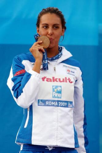 图文-游泳世锦赛女子800自决赛东道主名将摘铜