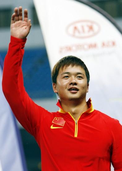 图文-射箭世界杯上海站中国选手陈文园在领奖台