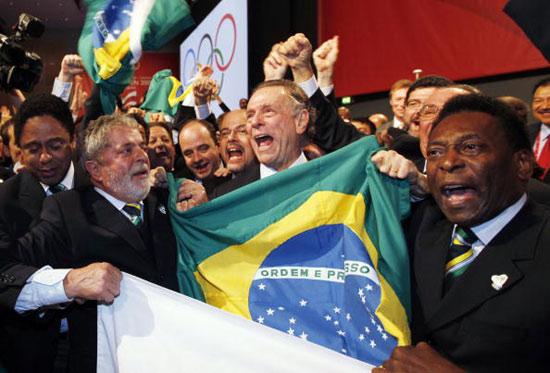 图文-里约获得2016年奥运会主办权发出胜利的呐喊