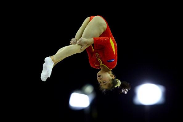 图文-女子自由体操决赛战况眭禄毫不怯场