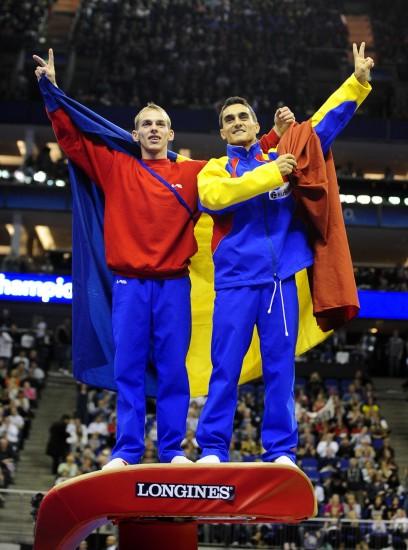 图文-世锦赛男子跳马决赛战况冠军霸气登上跳马台