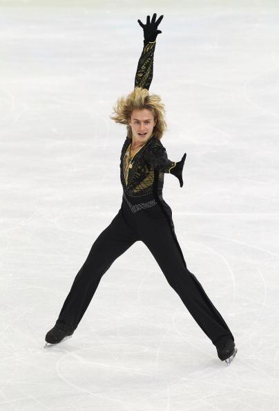 花样滑冰男子单人滑_图文-花样滑冰男子单人自由滑 博罗达林造型帅气