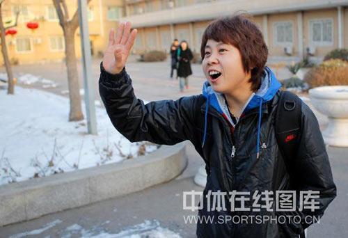 图文-中国短道速滑队出征世锦赛我是个热情的人!