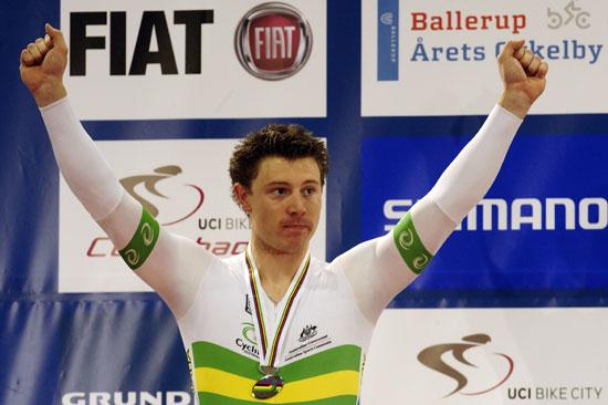 图文-场地自行车世锦赛帕金斯获男子争先赛亚军
