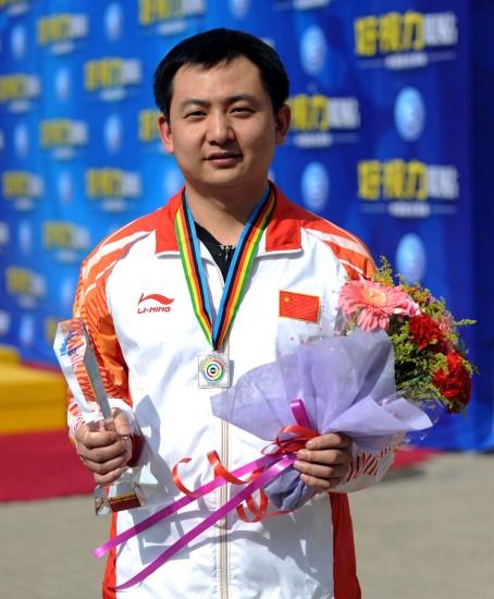 图文-张付获男子50米三姿赛银牌莫以成败论英雄