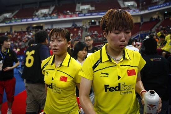 图文-尤伯杯决赛中韩争冠中国组合很失落