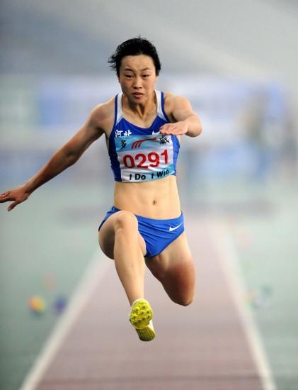 女子三级跳陈婷_图文-全国锦标赛女子三级跳远 刘亚男获得季军