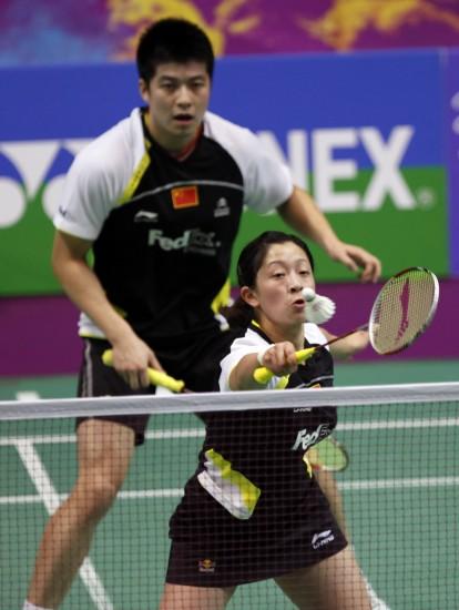 图文-羽球世锦赛中国混双顺利晋级张亚雯全神贯注