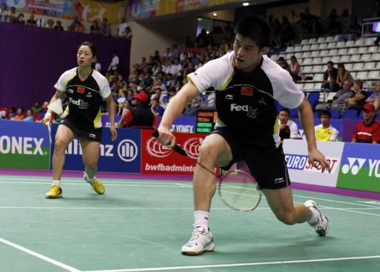 图文-羽球世锦赛中国混双顺利晋级陶嘉明游刃有余
