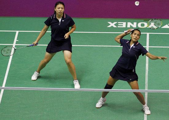 图文-羽毛球世锦赛女双新加坡姚蕾/欣达晋级16强