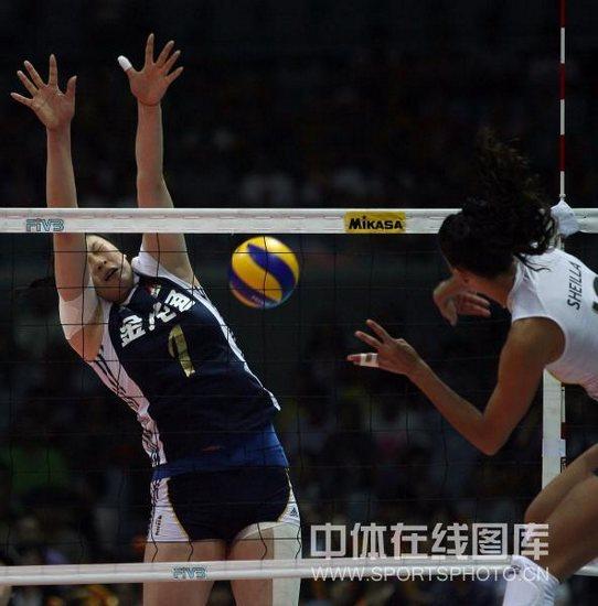 图文-大奖赛总决赛中国0-3巴西谢拉拐腕打直线