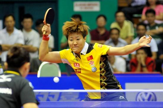 图文-女子乒乓球世界杯1/4决赛郭焱淘汰福原爱