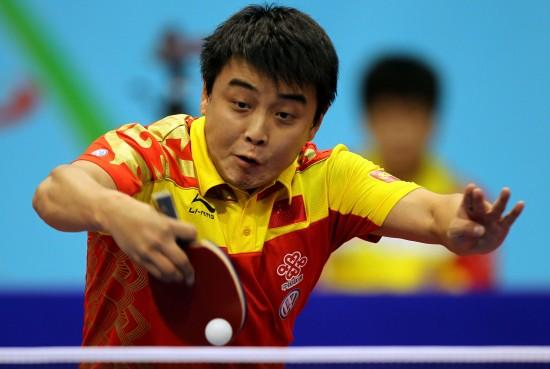图文-乒乓球世界杯男团半决赛王皓战胜施拉格
