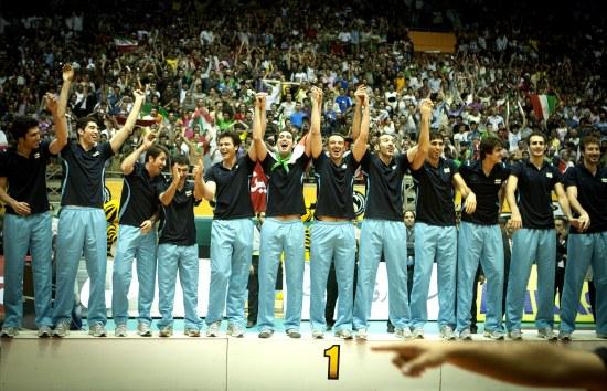 伊朗队庆祝冠军