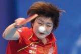 中国选手陈梦奋力回球