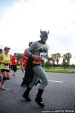打扮成蝙蝠侠参赛的选手