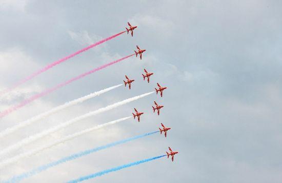 英国皇家空军飞机表演特技