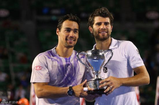 弗格尼尼/伯莱里首次拿下澳网男双冠军。
