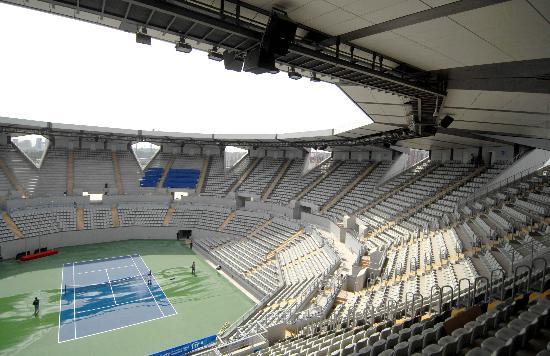 图文-奥运网球中心竣工交付使用 中心场地看台一览