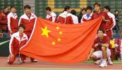 图文-戴杯亚大区II组中国锁定胜局笑容伴五星红旗