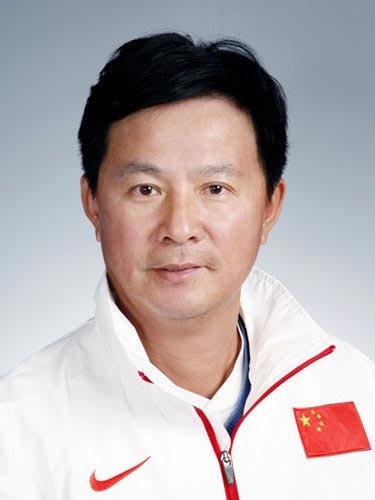 图文-北京奥运中国代表团网球队队员 教练蒋宏伟
