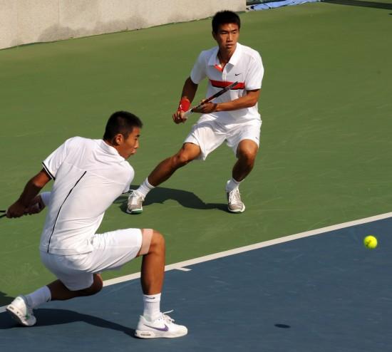 图文-网球男子双打半决赛曾少眩/张择进入决赛