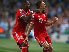 里贝里轰天雷罗本奔袭 对攻战拜仁3-1曼城