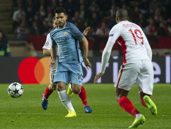 阿圭罗丢单刀萨内破门 曼城1-3摩纳哥无缘八强