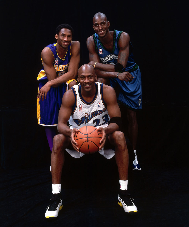 NBA老照片-飞人陛下重回联盟 科比狼王欲传承火炬