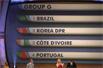 世界杯抽签揭晓-巴西遭遇葡萄牙科特迪瓦 意西英法上签
