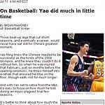 美联社:中国体育失去坐标性人物